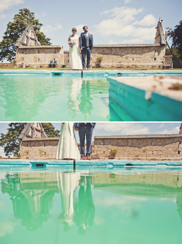 swimming pool wedding http://www.joannabrownphotography.com/