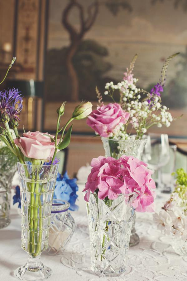 crystal vase wedding flowers http://www.joannabrownphotography.com/