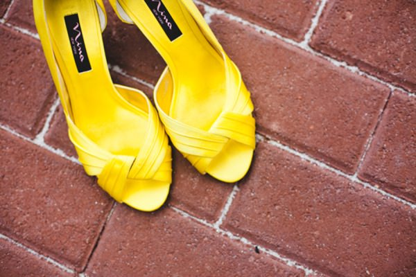 yellow wedding shoes http://www.pier23photography.com/