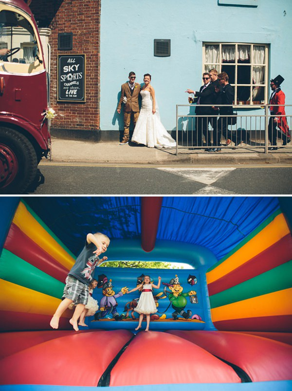 bouncy castle wedding http://www.cgweddings.co.uk/