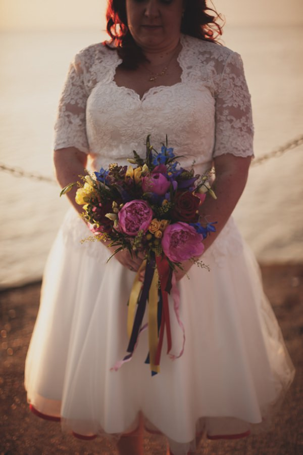 multicoloured wedding bouquet http://www.paulfullerkentphotography.com/