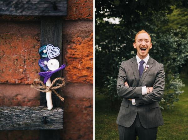 groom fun purple wedding http://www.cassandralane.co.uk/