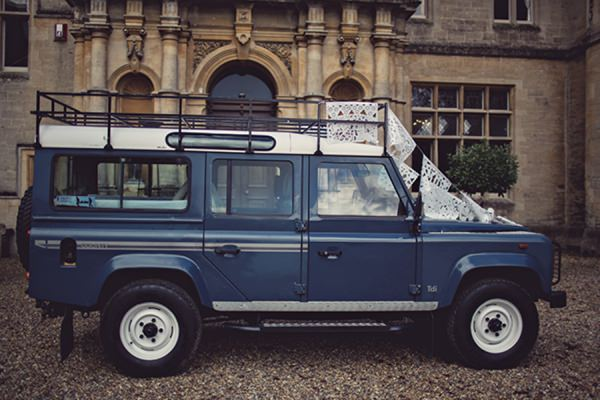 unusual wedding car http://www.annaclarkephotography.com/