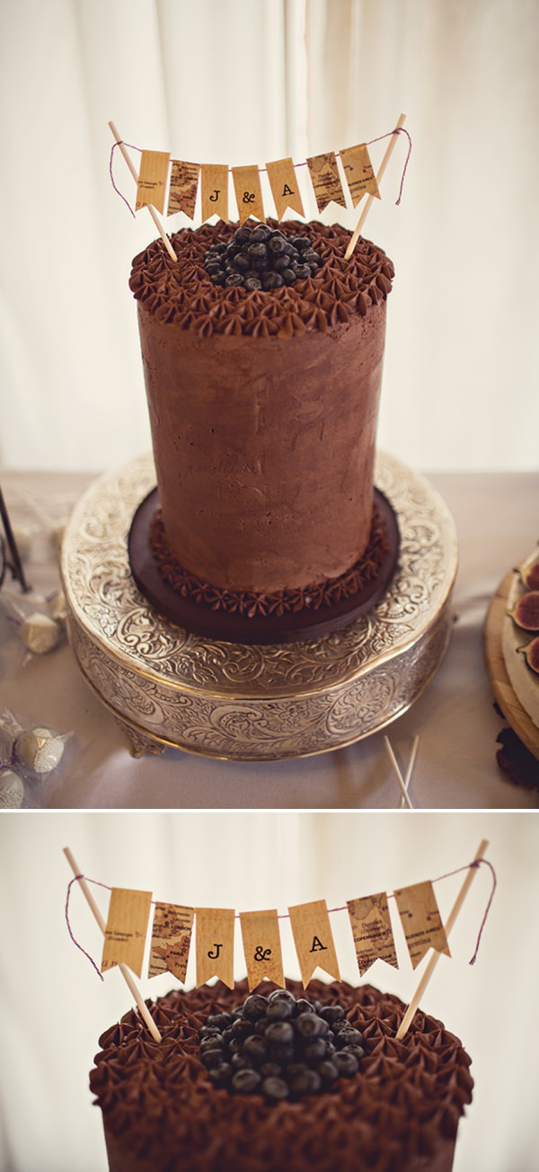 chocolate wedding cake http://www.annaclarkephotography.com/