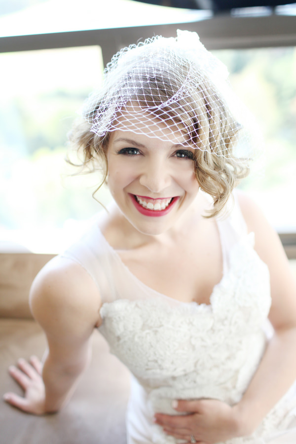 birdcage veil Glamorous Mill Wedding North Carolina http://whiteboxphoto.com/