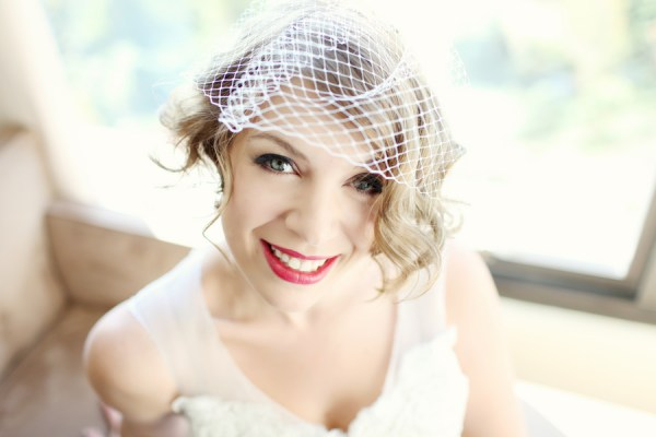 bride red lips make up Glamorous Mill Wedding North Carolina http://whiteboxphoto.com/
