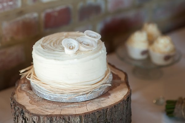rustic white wedding cake DIY Lillibrooke Manor Wedding http://fionasweddingphotography.co.uk/
