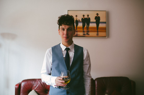 Quirky Groom Stylish Party Wedding on a Ship http://www.lisadevinephotography.co.uk/