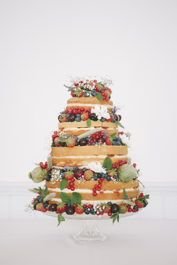Naked Fruit Wedding Cake Fun Quirky 1950s Wedding http://www.petecranston.com/