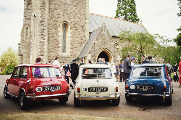 Mini Cars Bright Tea Party Yellow Wedding http://www.gemmawilliamsphotography.co.uk/