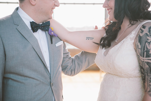 Bow tie groom Urban Industrial Wedding in Chicago http://www.jwileyphotography.com/