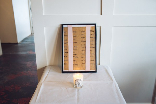Brown Paper Seating Plan Hackney Urban Minimalist Civil Partnership Wedding http://www.babbphoto.com/