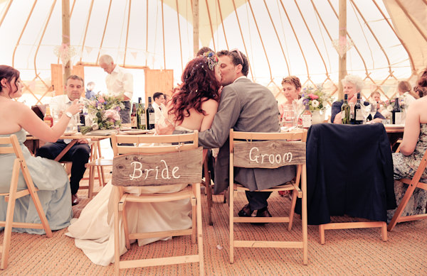 Bride Groom Signs Natural Bohemian Vegan Yurt Wedding http://www.ctimages.co.uk/