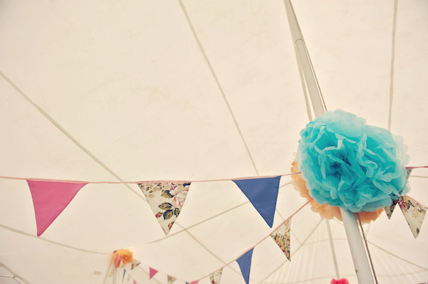 Pom Pom Bunting Stylish Fun Humanist Wedding http://www.ruby-roux.com/