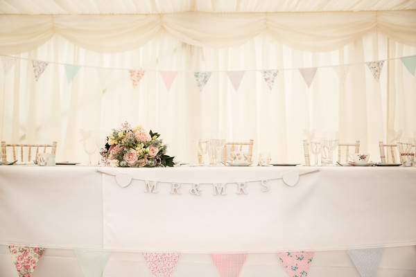 Top Table Pretty Marquee Wedding http://www.kategrayphotography.com/