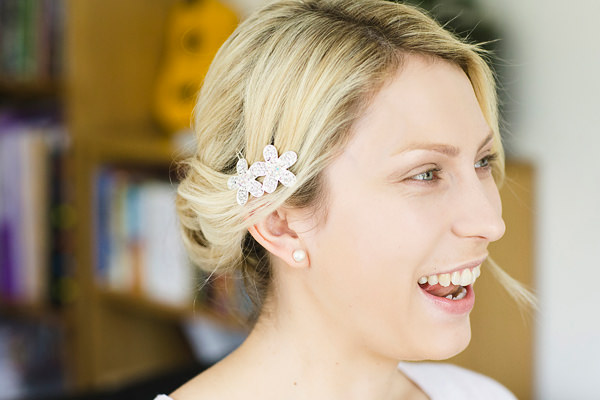 Chic Black Tie Hampton Court House Wedding Pretty Up Do Hair Bridal http://www.clairestelle.com/