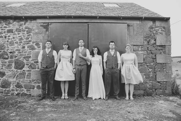 Indie Farm Wedding Dessy Bridesmaids http://www.mirrorboxphotography.com/
