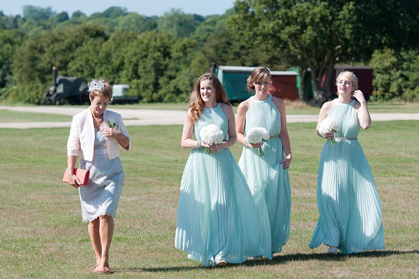 Mint Ted Baker Bridesmaid Dresses Chic & Relaxed Country Rustic Wedding http://www.sarareeve.com/