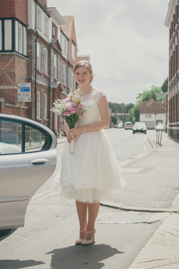 Sweet & Pretty Homemade Wedding 1950s Tea Length Dress Bride http://www.tohave-toholdphotography.co.uk/