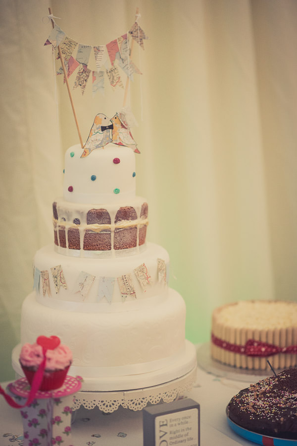 Fun Map Inspired Wedding Eclectic Cake http://karibellamy.com/