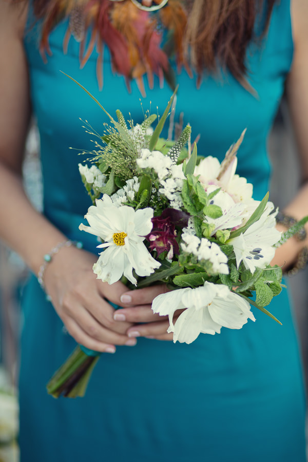 Magical Turquoise Beach Wedding Bridesmaid Bouquet http://www.mariannetaylorphotography.co.uk/
