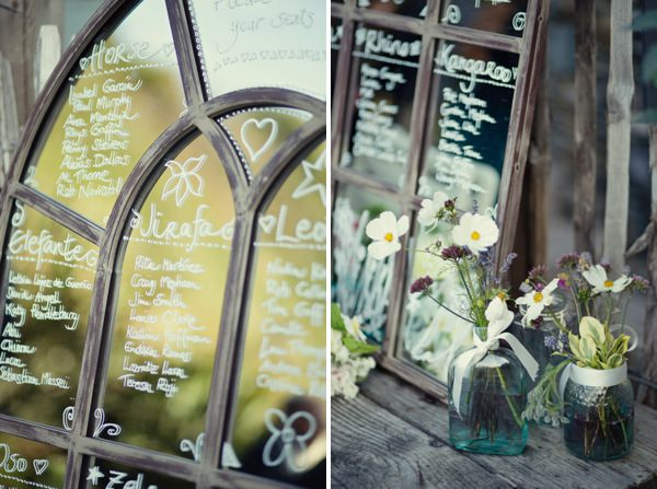 Magical Turquoise Beach Wedding Mirror Table Plan http://www.mariannetaylorphotography.co.uk/