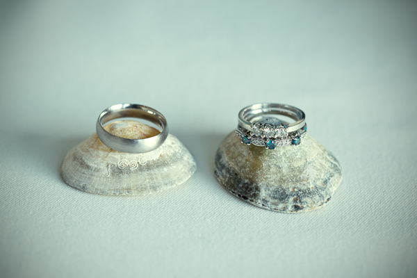 Magical Turquoise Beach Wedding Rings http://www.mariannetaylorphotography.co.uk/