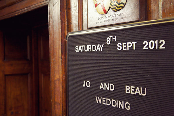 Chic City Film Wedding Sign http://marthaandgeorge.com/