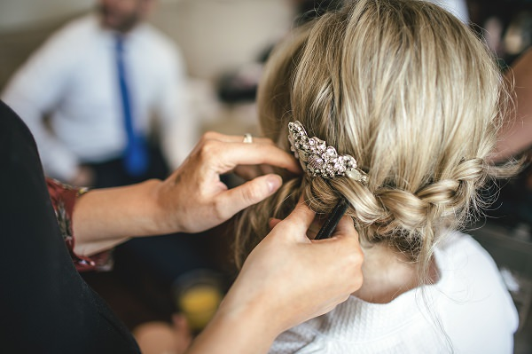 Multicoloured London Quirky Wedding Plait Braid Hair Bride http://www.kat-hill.com/