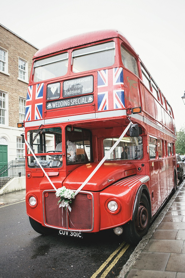 Multicoloured London Quirky Wedding London Bus http://www.kat-hill.com/
