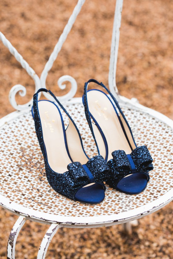 Destination Chateau Dordogne France Wedding Kade Spade Glitter Bow Shoes http://www.mandjphotos.com/