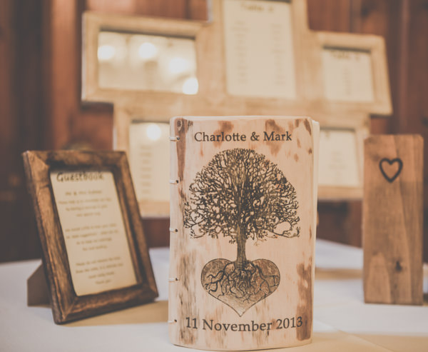 Earthy Cosy Kent Wedding Wooden Tree Guest Book http://www.katehennessyphotography.com/