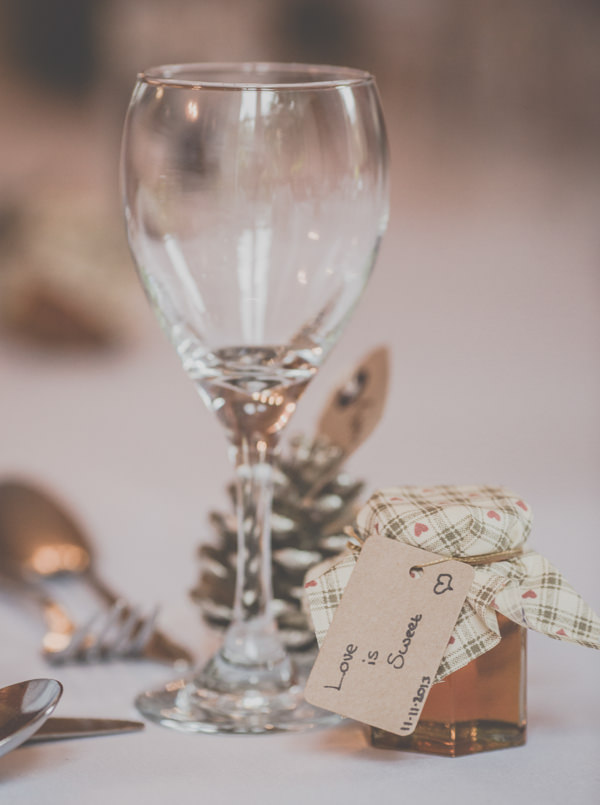 Earthy Cosy Kent Wedding Honey Favours http://www.katehennessyphotography.com/