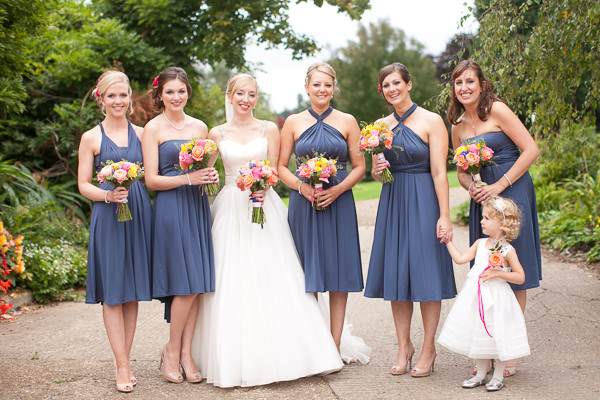 Colourful Fun Candy Wedding Blue Bridesmaid Dresses http://www.julietteharrison.co.uk/