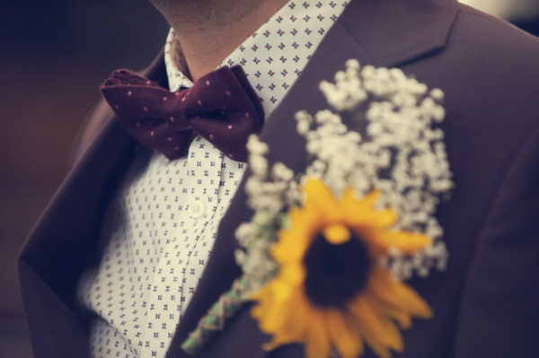 DIY Wedding Victoria Baths Manchester Bow Tie Groom Sunflower http://www.mrsleeve.co.uk/
