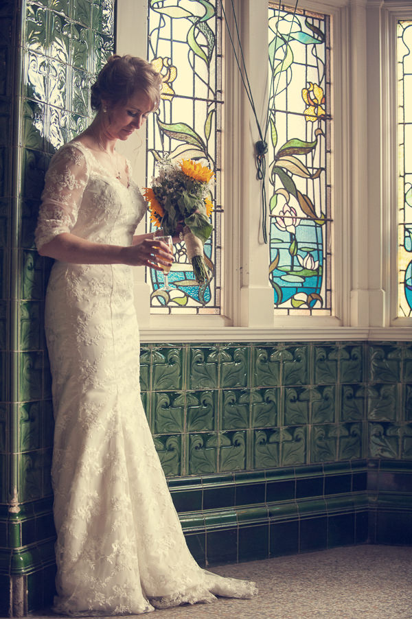 DIY Wedding Victoria Baths Manchester Lace Dress Bride http://www.mrsleeve.co.uk/