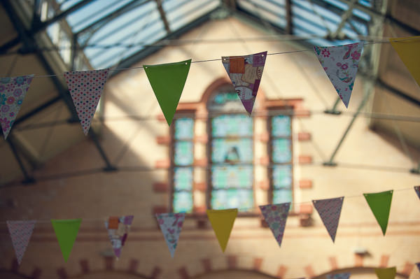 DIY Wedding Victoria Baths Manchester Bunting http://www.mrsleeve.co.uk/