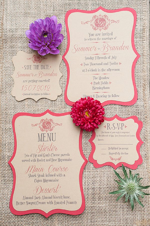 Wedding Invitaion Stationery Inspiration http://www.billinghamphotography.co.uk/ http://www.elleisforlove.co.uk/