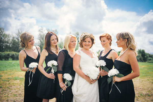 Fun Superhero Wedding Black Bridesmaid Dresses http://hollydeacondesign.com/