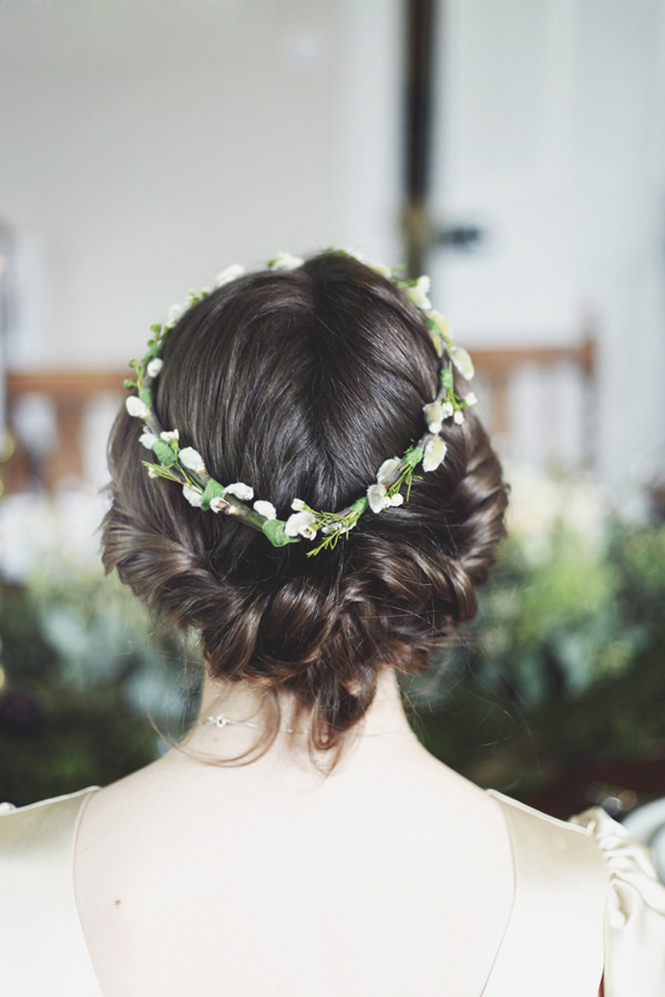 Opulent 1930s Country Manor Wedding Ideas Flower Crown Garland Halo Hair Bridal Twist http://cargocollective.com/darinastoda
