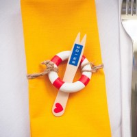 Wedding Nautical Fish Fork Place Name Setting http://www.mariannechua.com/