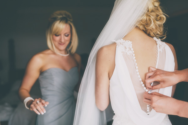 Beautiful Personal Wedding La Sposa Button Sheer Back Dress Bride http://www.milliebenbowphotography.com/