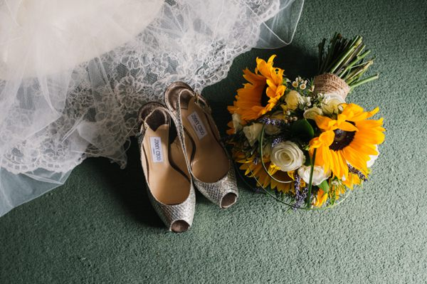 Homely Relaxed Sunflower Wedding Jimmy Choo Shoes http://www.babbphoto.com/