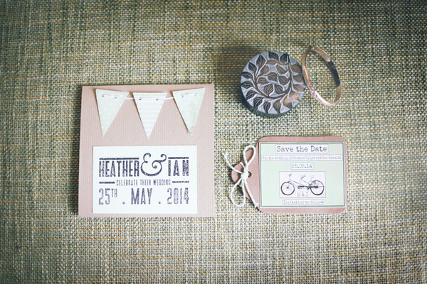 DIY White City Wedding Stationery Bunting http://www.amyfaithphotography.com/