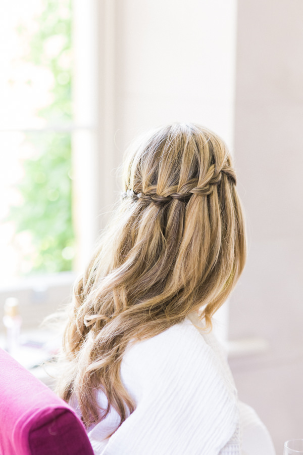 Stylish Relaxed Country Wedding Waterfall Plait Hair Bride Style http://www.lisadawn.co.uk/