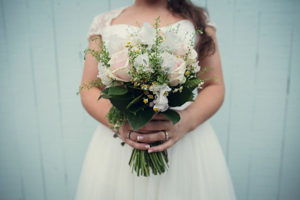 Country Barn Wedding Pretty Bridal Bouquet Blush White Green http://assassynation.co.uk/