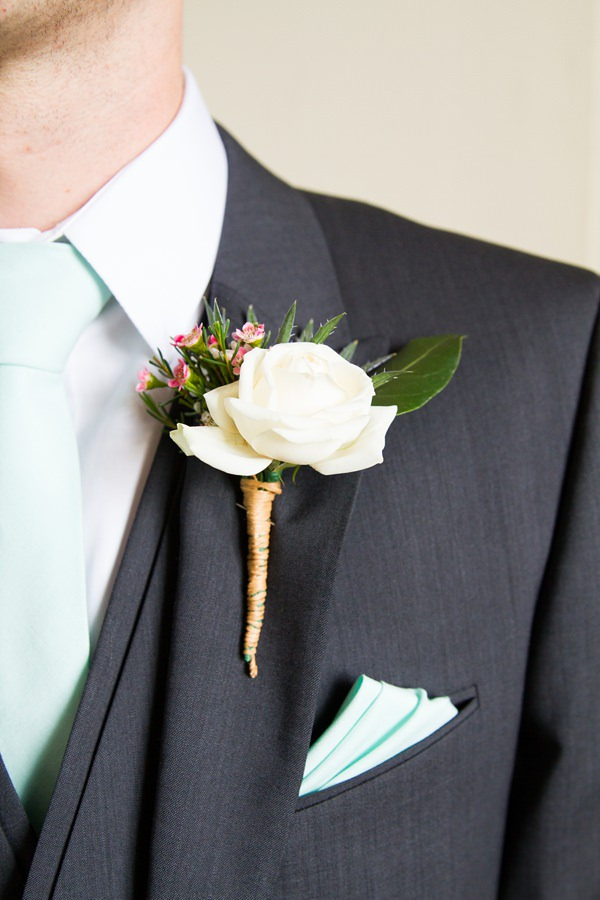 Floral Elegant London Wedding Spring Groom Buttonhole  http://www.georgimabee.com/