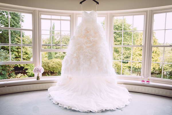 Intuzuri Ruffled Dress Marie Antoinette Pink Wedding http://www.annapumerphotography.com/