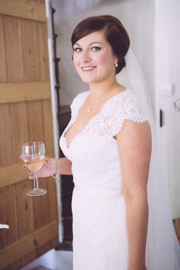 Rustic Cotswolds Barn Wedding Classic Natural Bride Hair Make Up  http://jenmarino.com/