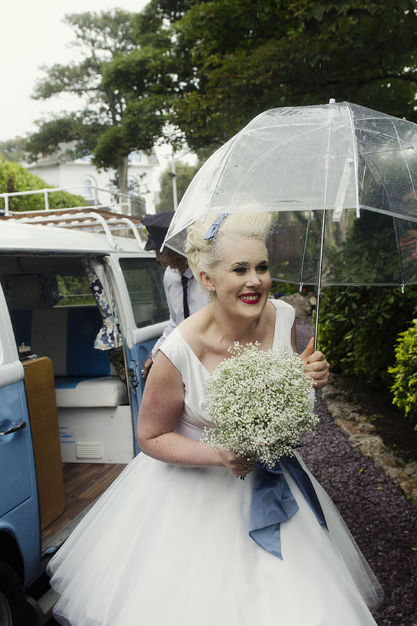 1950s Seaside Wedding Baby Breath Gypsophila Bouquet Bridal http://www.amyradcliffephotography.com/